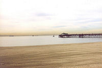 calm ocean at Seal Beach